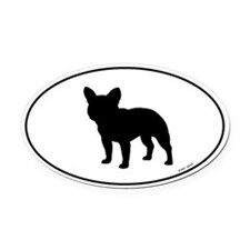 French Bulldog Oval Car Magnet