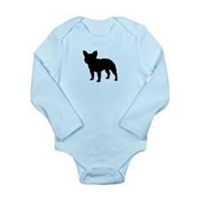 French Bulldog Long Sleeve Infant Bodysuit