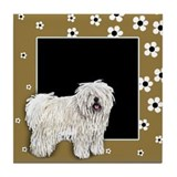 PULI DOG FLOWERS Tile Coaster