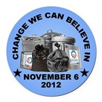 Change 2012 Round Car Magnet