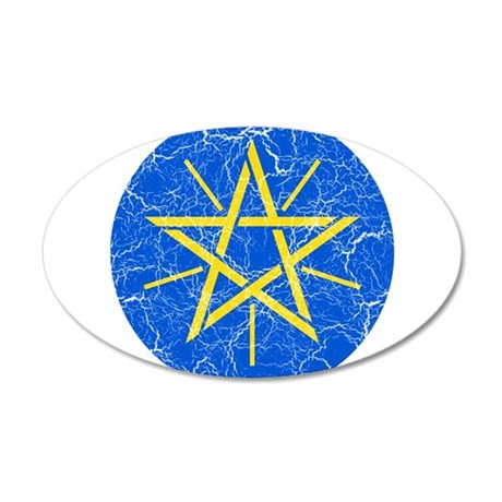 Ethiopia Coat Of Arms 20x12 Oval Wall Decal