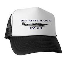 USS KITTY HAWK Trucker Hat