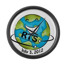 RTS Logo with Awareness Date Large Wall Clock