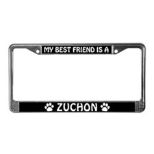 My Best Friend is a Zuchon License Plate Frame