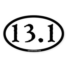 13.1 (Half Marathon) Oval Decal