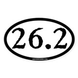 26.2 (Full Marathon) Oval Decal