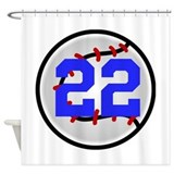 BB/SB Number Shower Curtain