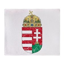 Hungary Coat Of Arms Throw Blanket