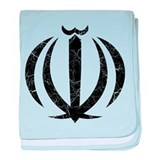 Iran Coat Of Arms baby blanket