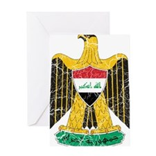 Iraq Coat Of Arms Greeting Card