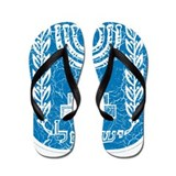 Israel Coat Of Arms Flip Flops