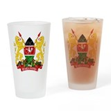 Kenya Coat Of Arms Drinking Glass