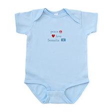 Peace, Love and Somalia Infant Bodysuit