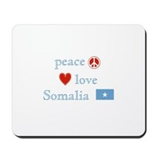 Peace, Love and Somalia Mousepad