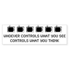 TV Bumper Bumper Sticker