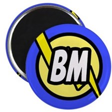 Blue Best Man Button Magnet