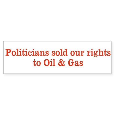 Sold our rights Bumper Sticker