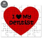 I Love My Dentist Heart Puzzle