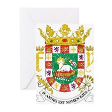 Puerto Rico Coat Of Arms Greeting Cards (Pk of 20)
