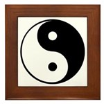 Framed Tile Tai Chi and Yin Yang symbol