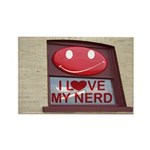 Nerd Rectangle Magnet (100 pack)