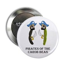 Pirates Of The Carob Bean Button