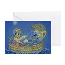 Lakshmi giving Vishnu Massage Cards (6)