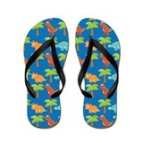 Dinosaur Friends Cute Flip Flops