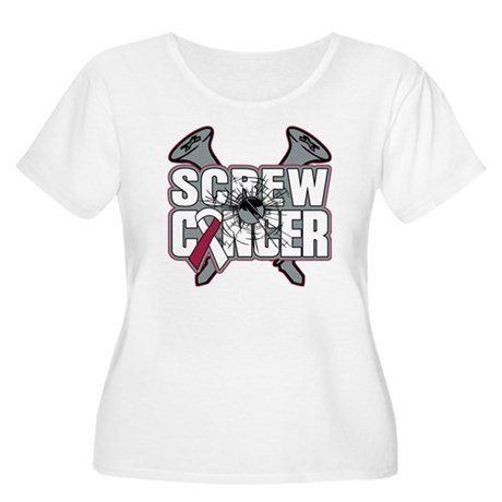 Screw Head Neck Cancer Women's Plus Size Scoop Nec