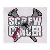 Screw Head Neck Cancer Throw Blanket