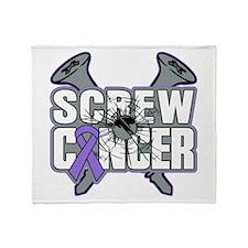 Screw Hodgkins Cancer Throw Blanket