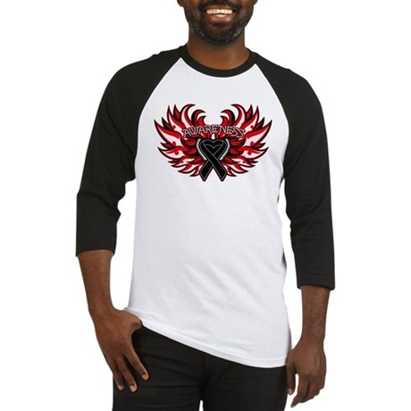 Skin Cancer Heart Wings Baseball Jersey