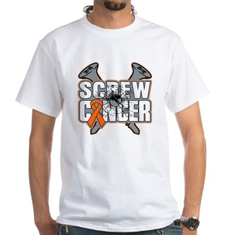 Screw Leukemia Cancer White T-Shirt