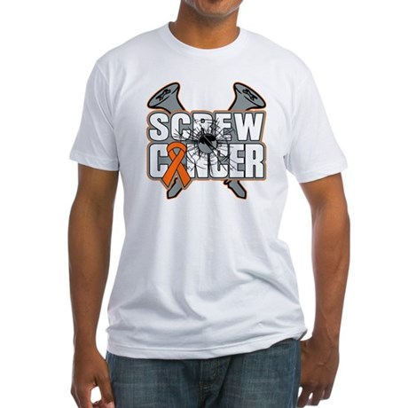 Screw Leukemia Cancer Fitted T-Shirt
