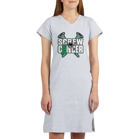 Screw Liver Cancer Women's Nightshirt