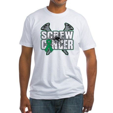 Screw Liver Cancer Fitted T-Shirt