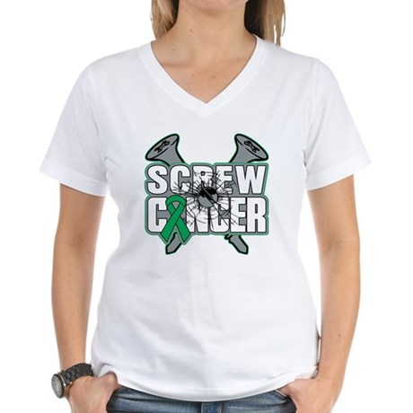 Screw Liver Cancer Women's V-Neck T-Shirt