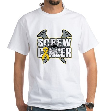 Screw Neuroblastoma Cancer White T-Shirt