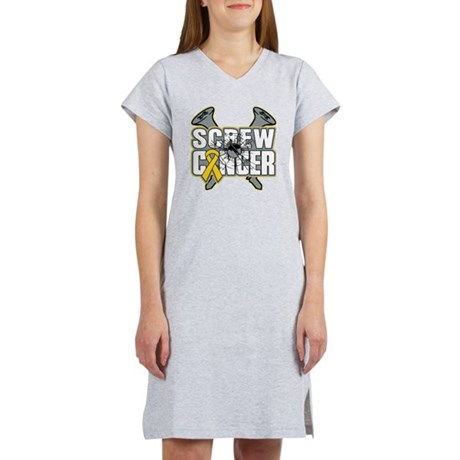 Screw Neuroblastoma Cancer Women's Nightshirt