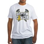Screw Neuroblastoma Cancer Fitted T-Shirt