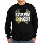 Screw Neuroblastoma Cancer Sweatshirt (dark)