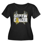 Screw Neuroblastoma Cancer Women's Plus Size Scoop