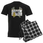 Screw Neuroblastoma Cancer Men's Dark Pajamas