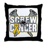 Screw Neuroblastoma Cancer Throw Pillow
