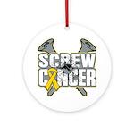 Screw Neuroblastoma Cancer Ornament (Round)