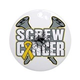 Screw Neuroblastoma Cancer Ornament (Round)