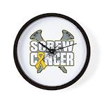 Screw Neuroblastoma Cancer Wall Clock