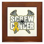 Screw Neuroblastoma Cancer Framed Tile