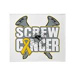 Screw Neuroblastoma Cancer Throw Blanket