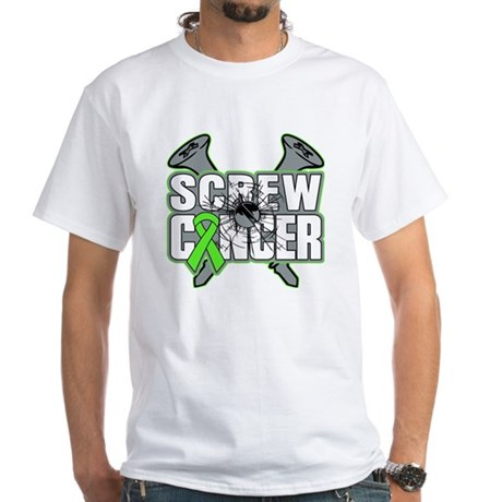 Screw Non-Hodgkins Cancer White T-Shirt